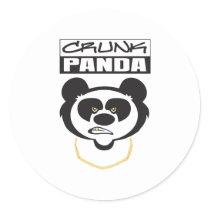 Crunk Panda Classic Round Sticker