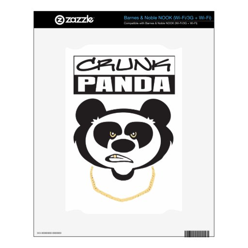Crunk Panda Decal For The NOOK
