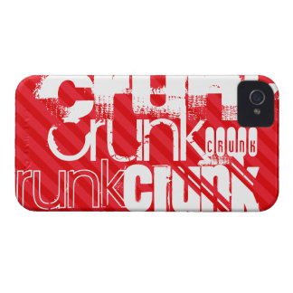 Crunk; Scarlet Red Stripes iPhone 4 Cases