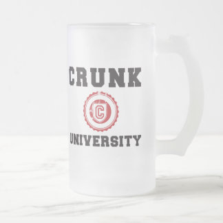 crunk university hyphy movement 16 oz frosted glass beer mug