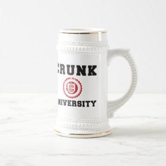 crunk university hyphy movement 18 oz beer stein