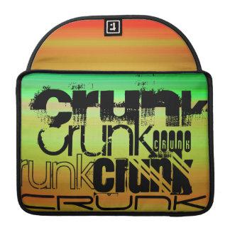 Crunk; Vibrant Green, Orange, & Yellow Sleeves For MacBook Pro