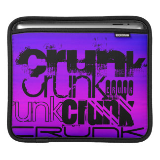 Crunk; Vibrant Violet Blue and Magenta Sleeve For iPads