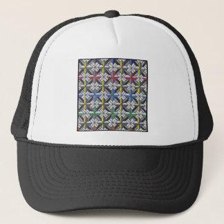 crusade pattern trucker hat