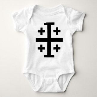 Crusader cross baby bodysuit