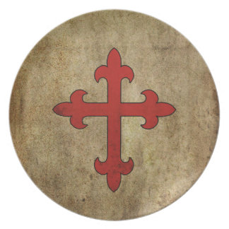 Crusader Cross Melamine Plate