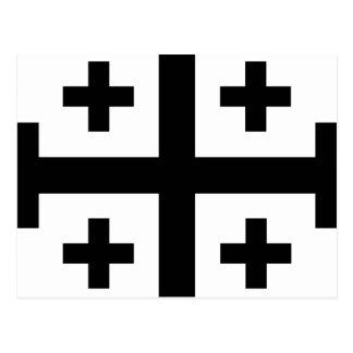 Crusader cross postcard