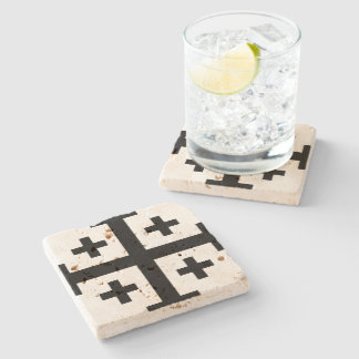 Crusader cross stone coaster