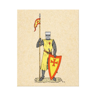 Crusader Knight Early 13th Century Canvas Print