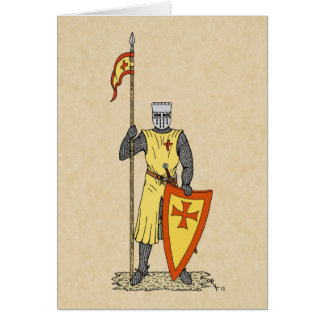 Crusader Knight, Early 13th Century, Card