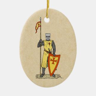 Crusader Knight, Early 13th Century Ceramic Ornament