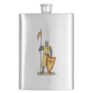 Crusader Knight, Early 13th Century Flask