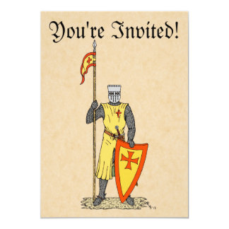 Crusader Knight, Early 13th Century, Invitations