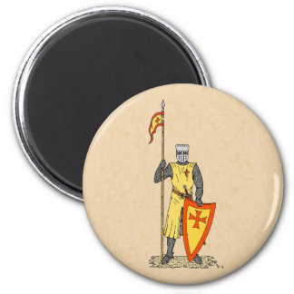 Crusader Knight, Early 13th Century Magnet