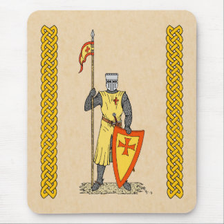 Crusader Knight Early 13th Century Mouse Pad