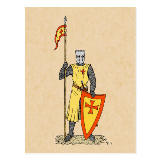 Crusader Knight, Early 13th Century, Postcard