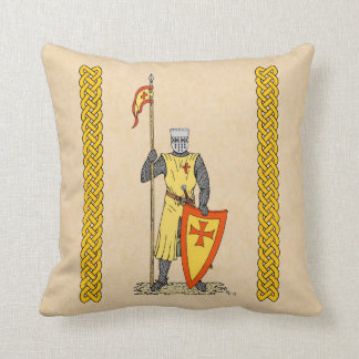 Crusader Knight, Early 13th Century Throw Pillow