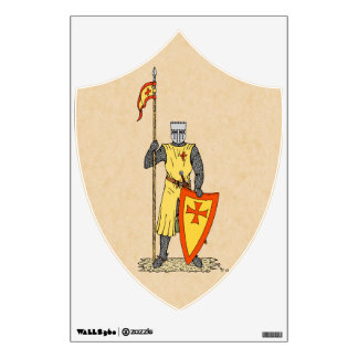 Crusader Knight, Early 13th Century, Wall Decal