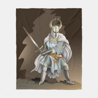 Crusader Knight Fleece Blanket