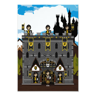 Crusader Knights and Castle RSVP Card