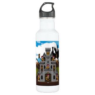 Crusader Knights and Castle Stainless Steel Water Bottle