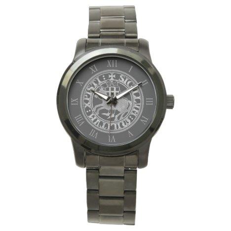 Crusader Templar Knights Seal logo Deus Vult old Watch