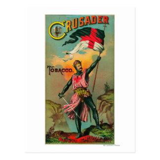 Crusader Tobacco LabelPetersburg, VA Postcard