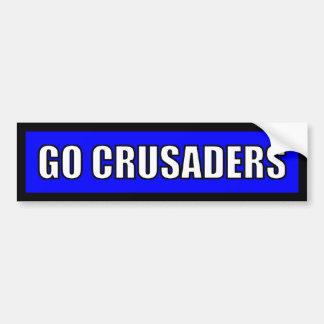 Crusaders - Black Blue White Car Bumper Sticker
