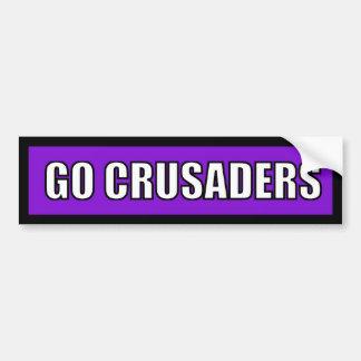 Crusaders - Black Purple White Car Bumper Sticker