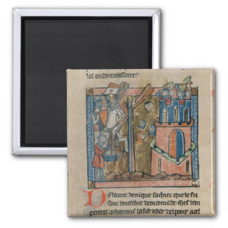 Crusaders bombard Nicaea with heads in 1097 2 Inch Square Magnet