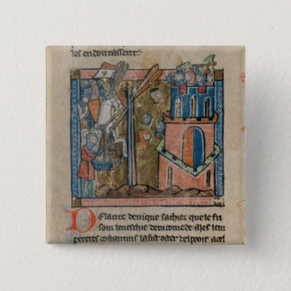 Crusaders bombard Nicaea with heads in 1097 Pinback Button