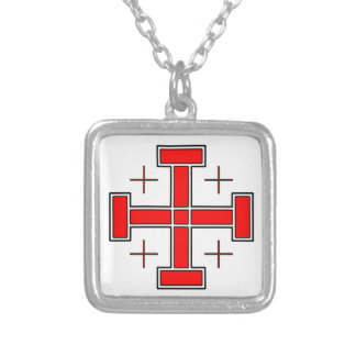 Crusader's Cross Square Pendant Necklace