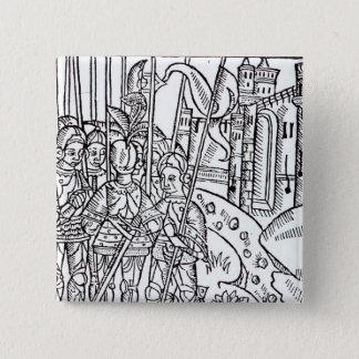 Crusaders, printed by Wynkyn de Worde Pinback Button