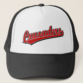 Crusaders script logo in Red Trucker Hat