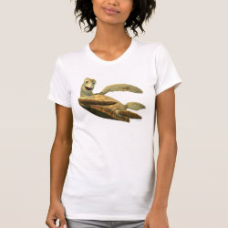 Women's American Apparel Fine Jersey Short Sleeve T-Shirt with Crush of Finding Nemo design