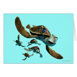 Greeting Card with Crush and Dory and Marin of Finding Nemo in the EAC design