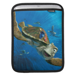 iPad Sleeve with Crush and Dory and Marin of Finding Nemo in the EAC design