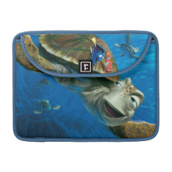Macbook Pro 13' Flap Sleeve with Crush and Dory and Marin of Finding Nemo in the EAC design