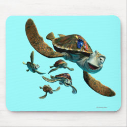 Mousepad with Crush and Dory and Marin of Finding Nemo in the EAC design