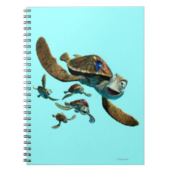 Photo Notebook (6.5' x 8.75', 80 Pages B&W) with Crush and Dory and Marin of Finding Nemo in the EAC design