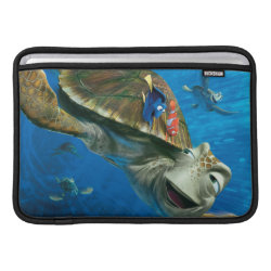 Macbook Air Sleeve with Crush and Dory and Marin of Finding Nemo in the EAC design