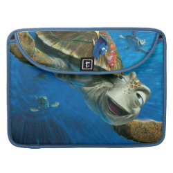 Macbook Pro 15' Flap Sleeve with Crush and Dory and Marin of Finding Nemo in the EAC design