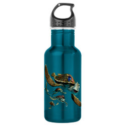 Water Bottle (24 oz) with Crush and Dory and Marin of Finding Nemo in the EAC design