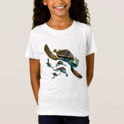 Girls' Fine Jersey T-Shirt with Crush and Dory and Marin of Finding Nemo in the EAC design