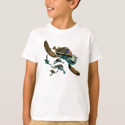 Kids' Hanes TAGLESS® T-Shirt with Crush and Dory and Marin of Finding Nemo in the EAC design