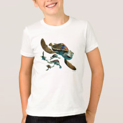 Kids' American Apparel Fine Jersey T-Shirt with Crush and Dory and Marin of Finding Nemo in the EAC design