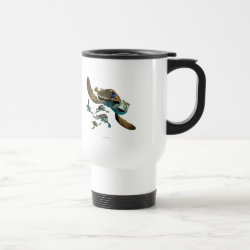 Travel / Commuter Mug with Crush and Dory and Marin of Finding Nemo in the EAC design