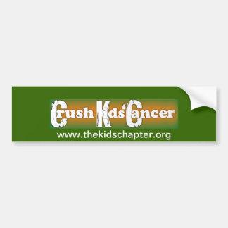 """""""Crush Kids Cancer"""" Bumper Sticker Bumper Stickers"""