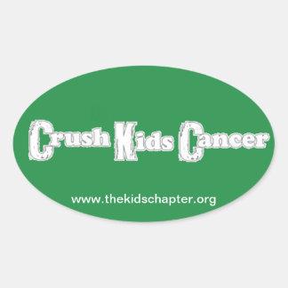 """Crush Kids Cancer"" Green Sticker"