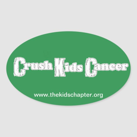 """Crush Kids Cancer"" Green Sticker"